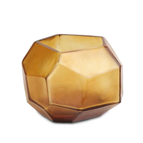 Guaxs Windlicht Cubistic Clear Gold