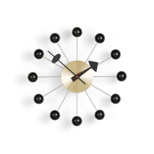 Vitra Ball Clock Black Brass