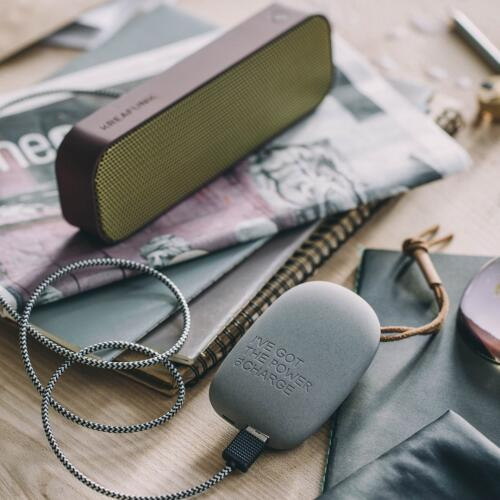 Kreafunk toCHARGE USB-Powerbank Dark Grey
